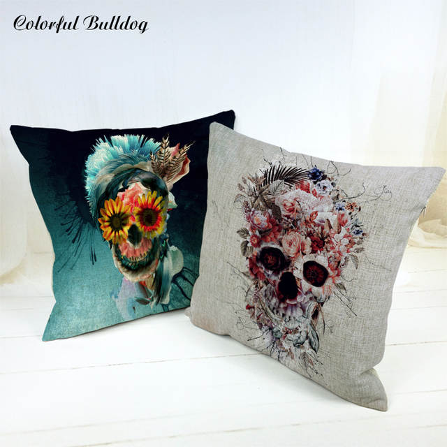 Hallween Cushion Cover Tropical Style Mexican Skull Flowers Octopus on chicken mobile home, ghetto mobile home, hippie mobile home, european mobile home, continental mobile home, office mobile home, kentuckian mobile home, black mobile home, oriental mobile home, white mobile home, kitchen mobile home, canadian mobile home, messy mobile home, international mobile home, swiss mobile home, home made mobile home, american mobile home, food truck mobile home,