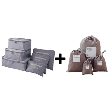 2018 Packing Cube women Travel Bags Zipper Waterproof 6 Pieces One Set Big Capacity Of Bags Unisex Clothing Sorting Organize Bag Travel Bags & Luggage