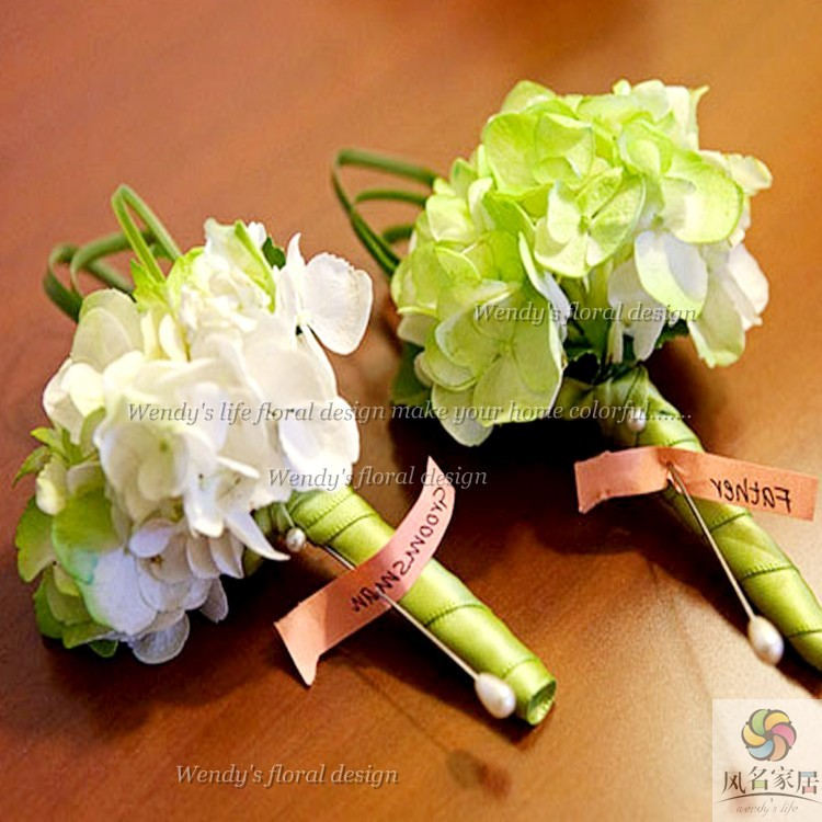 Artificial flower wedding flower corsage guelder