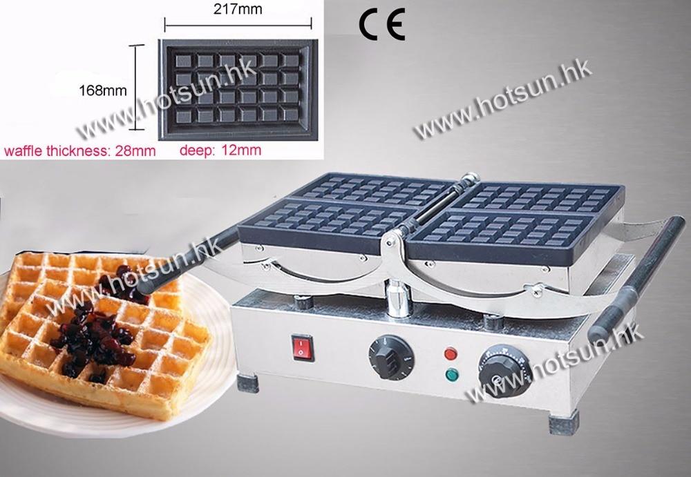 180-degree Rotated 220v Electric Brussels Swing Belgian Waffle Maker Machine Baker brussels 1 11 000