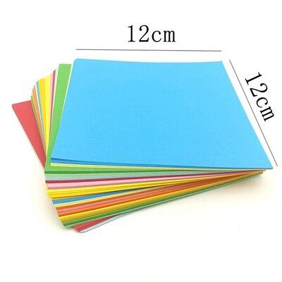 A4 цветная оберточная бумага копировальная бумага для печати 80 г Детский Цветной Материал оригами Бумага ручной работы картонная посылка - Цвет: 12X12CM 100sheets