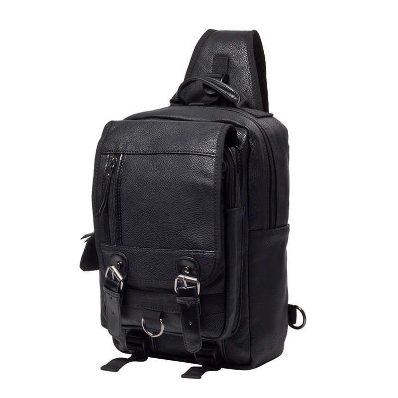 ФОТО High Quality Leather Travel Bag Casual Business Leather Mens Messenger Bag Luxury Handbags Designer Vintage Men's Shoulder Bag