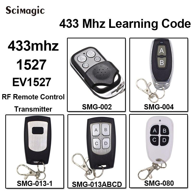 100 pièces 433 mhz 1527 EV1527 D'apprentissage Code porte garage télécommande