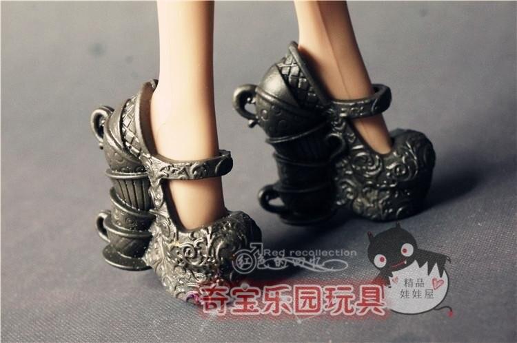 5 par / mye Nye mote sko til Monster High Orignal Doll jenter gaver - Dukker og tilbehør - Bilde 4