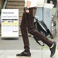 Four Seasons мужские Вельвет Мода и повседневные брюки молодежи прямой ногой slim fit мужские брюки