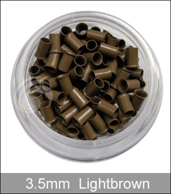 4 бутылки медь Flared Micro медное кольцо микро шарики для волос подсказки ручки/микро-кольца наращивание волос, белый