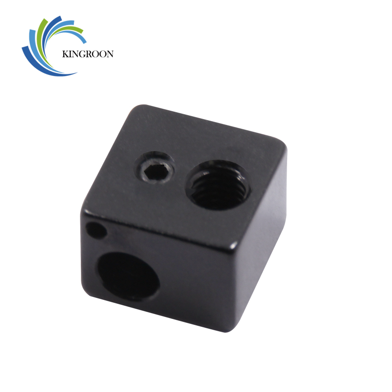 KINGROON 3D Printer Part Black Heat Block For E3D V5 Extruder Prusa Reprap J-head 16*16**12mm Hot En
