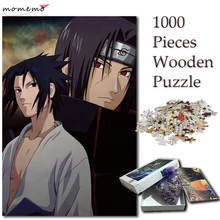 MOMEMO Puzzles 1000 Pieces Itachi Sasuke Jigsaw Cartoon Anime for Adults Naruto Puzzle Games Kids Toys