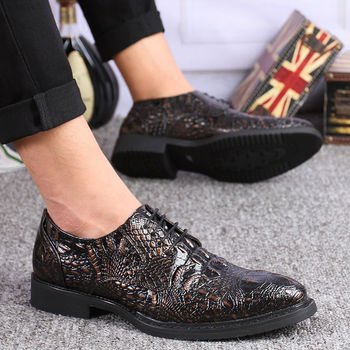 Merkmak Marke Oxford Schuhe Für Männer Mode-Business Krokodil Schuhe Hohe Qualität Kleid Hochzeit Ankle Schuhe Mann Wohnungen Schuhe
