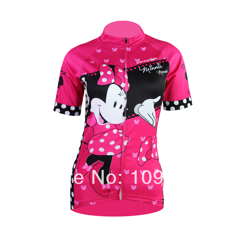 Women/'s Cartoon Mouse Cycling Jersey