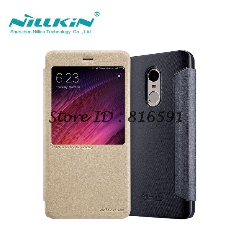 Xiaomi Redmi Note 4X Case Xiaomi Redmi Note 4X Cover 5.5 inch NILLKIN Sparkle Series PU Leather Flip Case