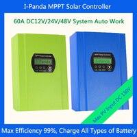 CE RoHS MPPT Solar Charge Controller 60A 12V 24V 48V Automatic Recognition Solar Charge Controller