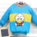 Baby Coat 2016 Winter  Warm jacket baby Male and female children in cotton cotton Fashion cartoon Cotton-padded clothes L1820
