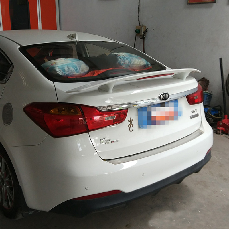 use for Kia cerato K3 spoiler 2010-2017 cerato K3 roof Spoiler High Quality ABS Material Car Rear Wing Primer Rear Spoiler 2005 2006 2007 2008 2009 2010 for hyundai sonata rear trunk roof wing spoiler abs material high quality by primer or diy paint
