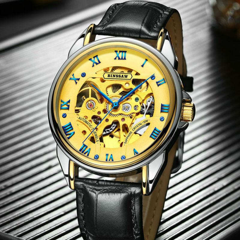 BINSSAW 2018 Nieuwe Man Originele Luxe Merk Herenmode Business Rvs - Herenhorloges - Foto 6