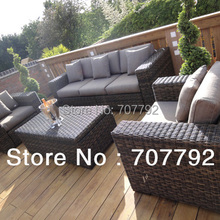 2017 New Style Grey Wicker Outdoor Furniture