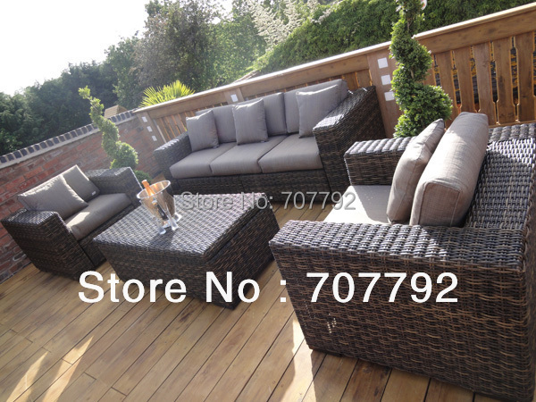 2014 New Style Grey Wicker Outdoor Furniture