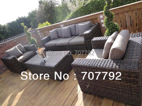 2014 new style grey wicker outdoor furniture in garden