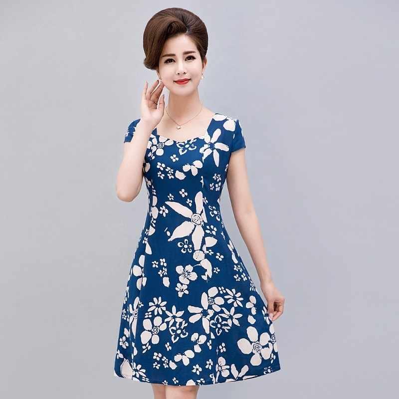 fe68f26133e L-5XL 2019 женская одежда платье шелк короткий рукав сарафана квадратный  воротник Повседневное плюс Размеры
