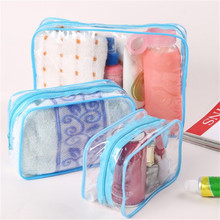 Travel Clear PVC Cosmetic Bags Women Men Transparent Zipper Makeup Bags Organizer Beauty Make Up Bath Wash Handbag Case bag 3 pcs set travel cosmetic bag transparent pvc women zipper clear makeup beauty case make up organizer large capacity wash bag