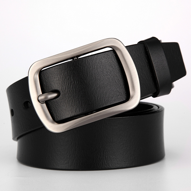 Genuine leather belts for men width 3.8cm Designer high quality luxury brand pin buckles belt Casual black and coffee belts n37