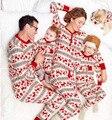 Горячие продажи семейные рождественские пижамы Папа Мама Дети Новорожденный отпечатано пижамы 2 шт. наборы семьи соответствующие наряды
