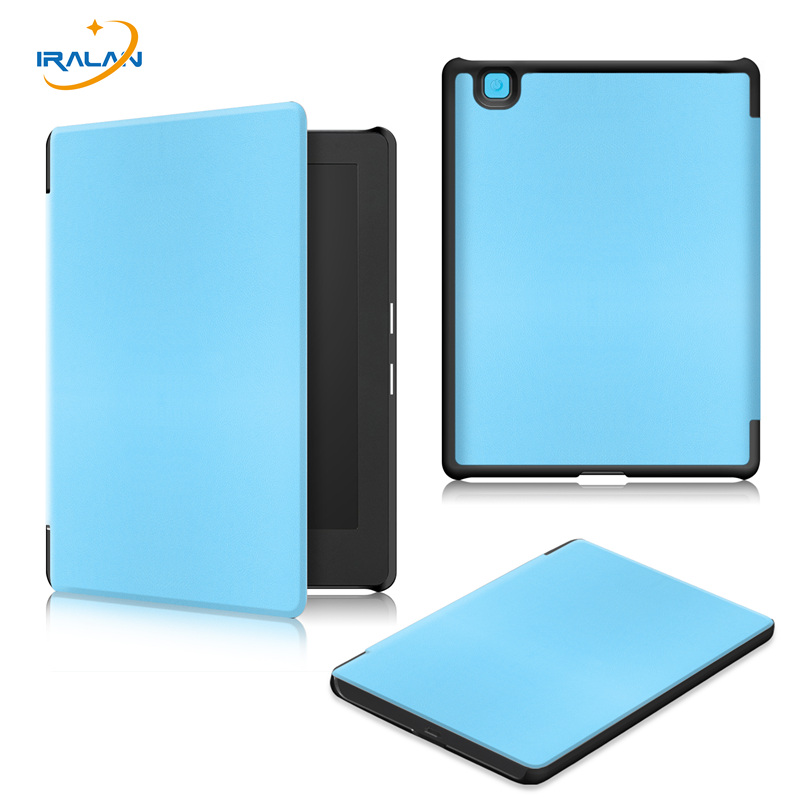 New PU Leather E-book Smart Magnetic Case for kobo aura H2O Edition 2 6.8 inch Sleep protective cover+Screen Protector+Stylus ultra thin smart flip pu leather cover for lenovo tab 2 a10 30 70f x30f x30m 10 1 tablet case screen protector stylus pen