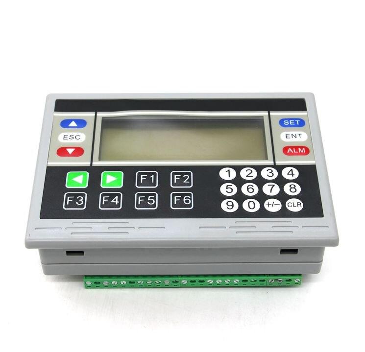 PLC panneau de contrôle industriel une machine FX1N18MRT avec 485 communication OP320 texte affichage pouls sortie 200 k