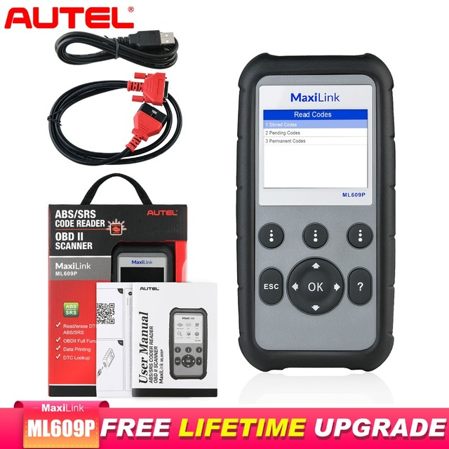 Autel MaxiLink ML609P Diagnostic Tool Obd2 Scanner escaner automotriz profesional ABS and SRS system diagnosis code reading