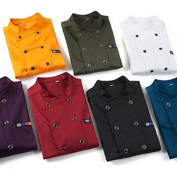 Nuovo 2018 di Alta Qualità Chef Uniformi Servizi Abbigliamento Long & Short Sleeve Uomini Cibo Cottura Vestiti-Colore Uniforme Chef Giacche