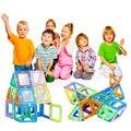 Mini 64 UNIDS Diseñador Magnético Niños Juguetes Educativos Bloques de Construcción De Plástico Ladrillos de Construcción Técnica Ilumine Bloques de Montaje