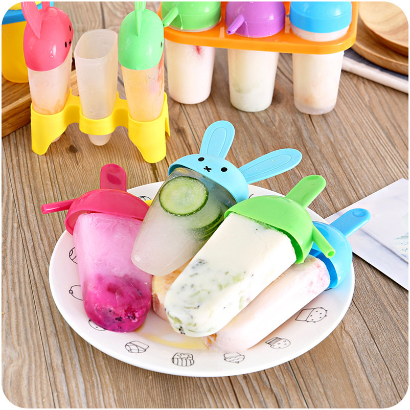 Pop Molds Ice-cream Tools Cartoon Makers Popsicle Molds Summer for Children Kids DIY Coo ...