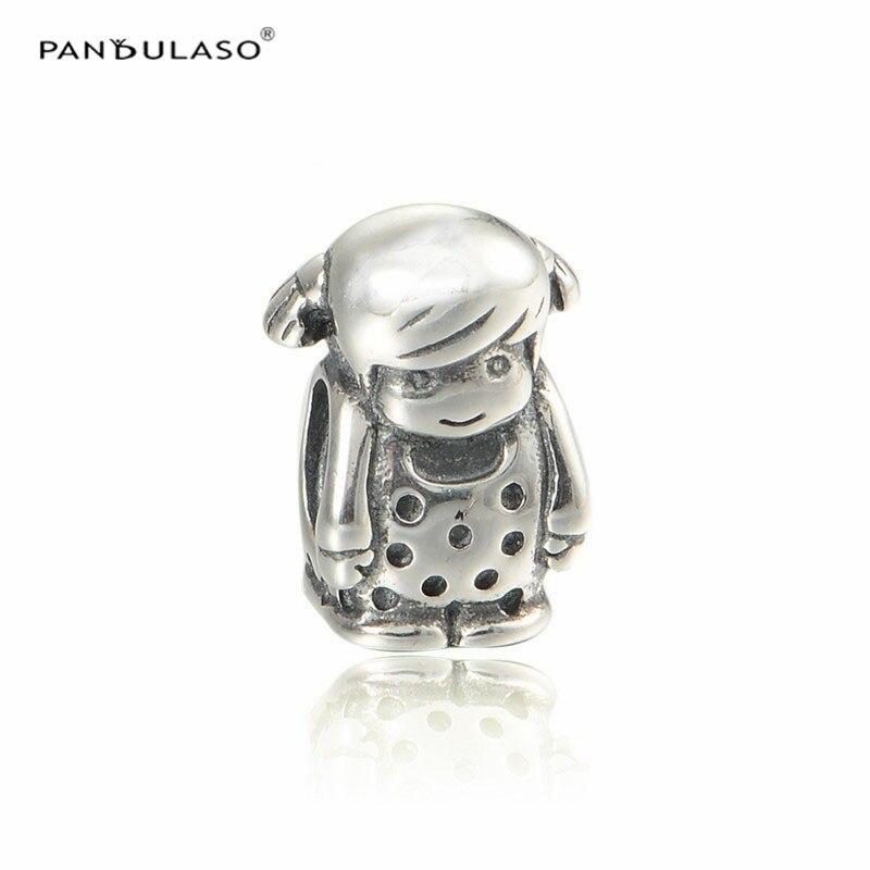 b56223927f54 Pandulaso pequeña bebé niña cuentas de plata para joyería que se ajusta a  las mujeres de moda plata 925 encantos pulseras DIY familia Vintage ...