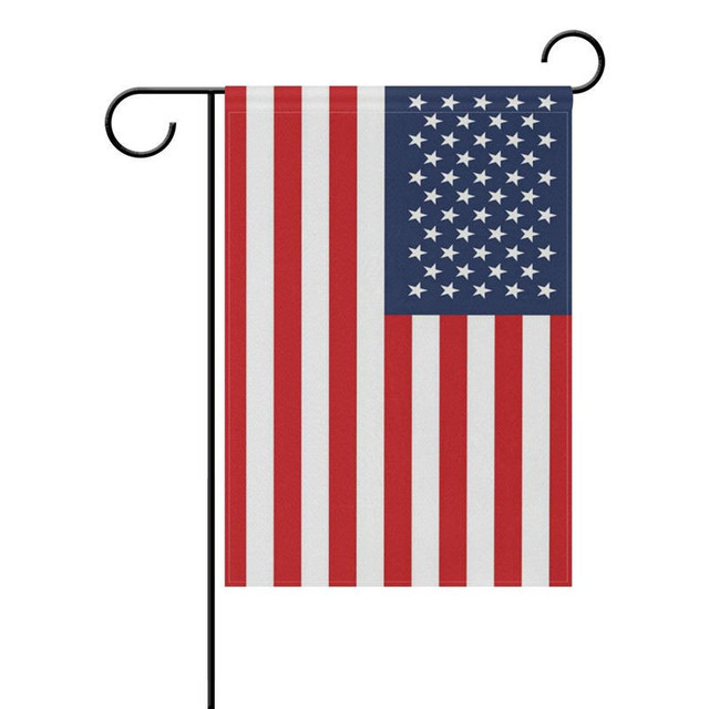 Memorial Independence Day 4th Of July American Flag Garden Yard Flags  Classic USA Flag Applique Banner
