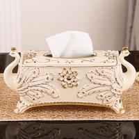 Европа Павлин керамические tissue box home decor ремесел украшения комнаты держатель для бумаги орнамент ткани фарфора case свадебные подарки