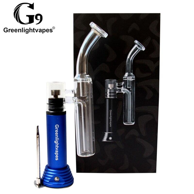 Greenlightvapes G9 Mini Henail vaporisateur dispositif de fumer tuyau d'eau en verre enail henail portable herbe sèche dab plate-forme avec outil dab