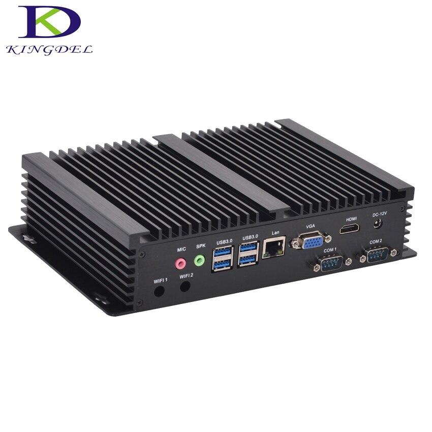 Kingdel I5 Mini Computer Windows 10 Core I3 4010U I3 5005U I5 4200U 2*RS232 Fanless Mini Industrial PC Rugged PC