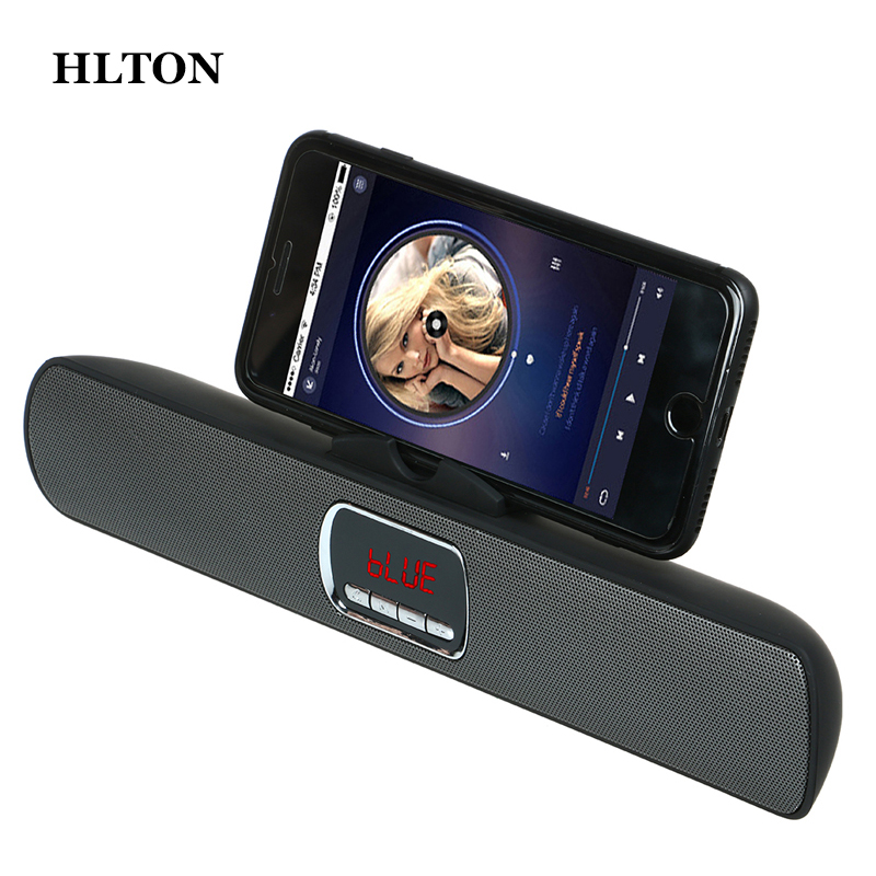 HLTON HIFI Wireless Bluetooth Speaker Super Bass 3D Stereo Subwoofer AUX TF FM Radio Loudspeaker Stand Holder For Phone ipad PC a3 20w wireless bluetooth column dual speaker subwoofer home theater loudspeaker 3d stereo super bass speakers for phone tv pc page 9