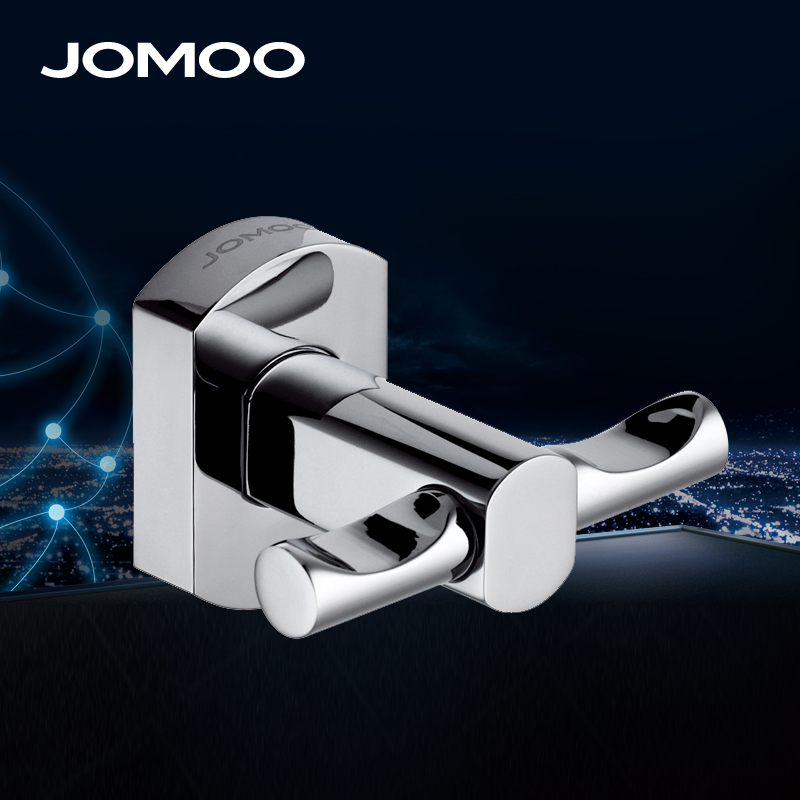 jomoo brand brass coat hook double towelrobe clothes hook for bath kitchen heavy duty brass coat hook pieces