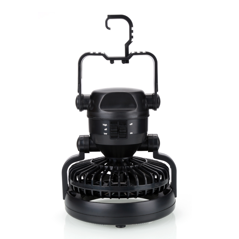 Outdoor Hiking 2-in-1 Super 18 LED Night Camping Light Tent Lantern With <font><b>Ceiling</b></font> Cooling Fan Hanging Hook
