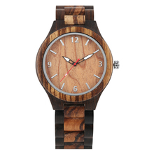 Mens Wood Watch Natural Wristwatch Luminous Quartz Silver Digital Watches for Male