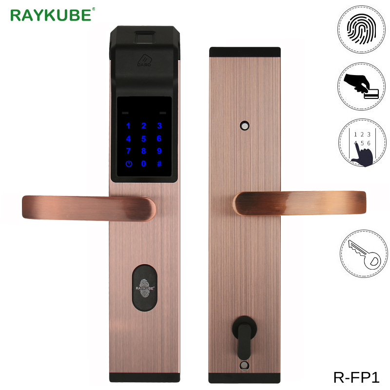 цена RAYKUBE Intelligent Fingerprint Door Lock For Home Anti-theft Lock Keyless Digital Electronic Door Lock R-FP1 в интернет-магазинах