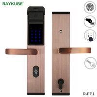 RAYKUBE Intelligent Fingerprint Door Lock For Home Anti theft Lock Keyless Digital Electronic Door Lock R FP1