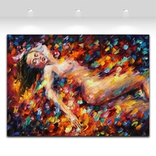100% Hand Painted Sexy Women Nude Body Canvas Oil Paintings Unique Wall Art for Living Room Bedroom Decoration