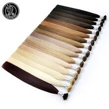 Сказочные волосы remy 22 дюйма 1 г/прядь настоящие волосы Remy Fusion с плоским кончиком для наращивания натуральные черные итальянские кератиновые капсулы волосы 50 г