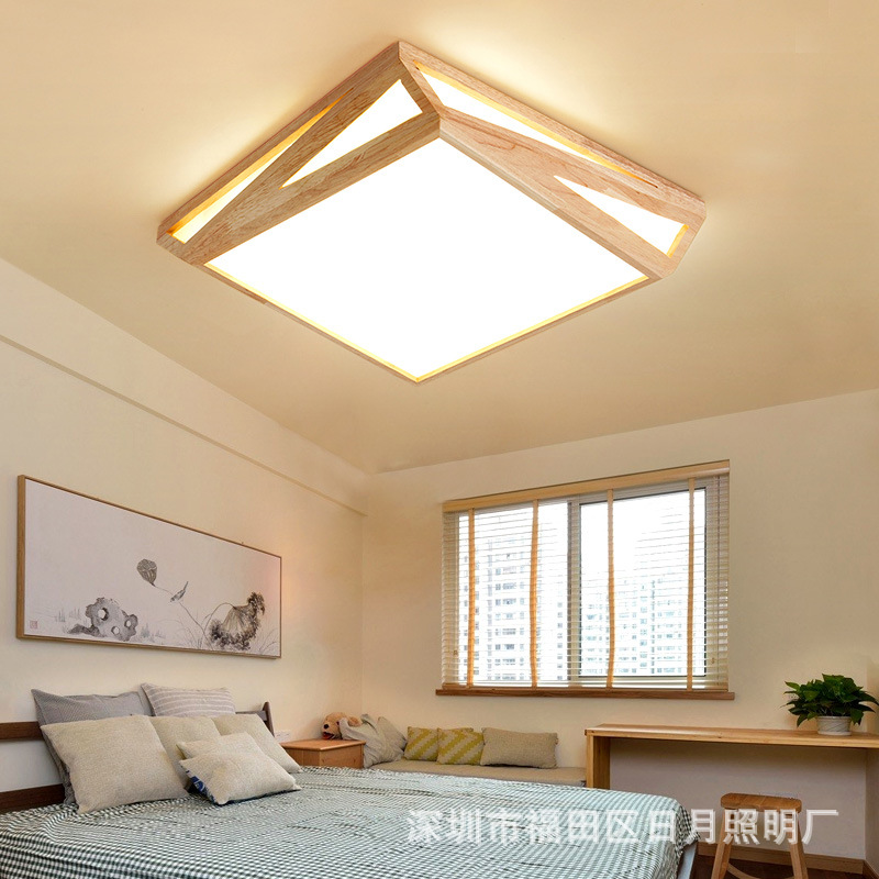 Modern LED Wooden Ceiling Lights For Living Room Foyer Lamparas de techo Japan Lighting Fixtures For Bedroom Kitchen modern led ceiling lights for living room bedroom foyer luminaria plafond lamp lamparas de techo ceiling lighting fixtures light