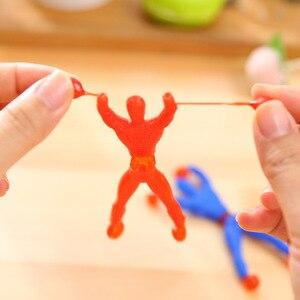 Новинка, скалолазание, Человек-паук, слизь, вязкие рыцаря, забавные гаджеты, экшн-фигура, эластичный Человек-паук для детей, игрушки, случайн...