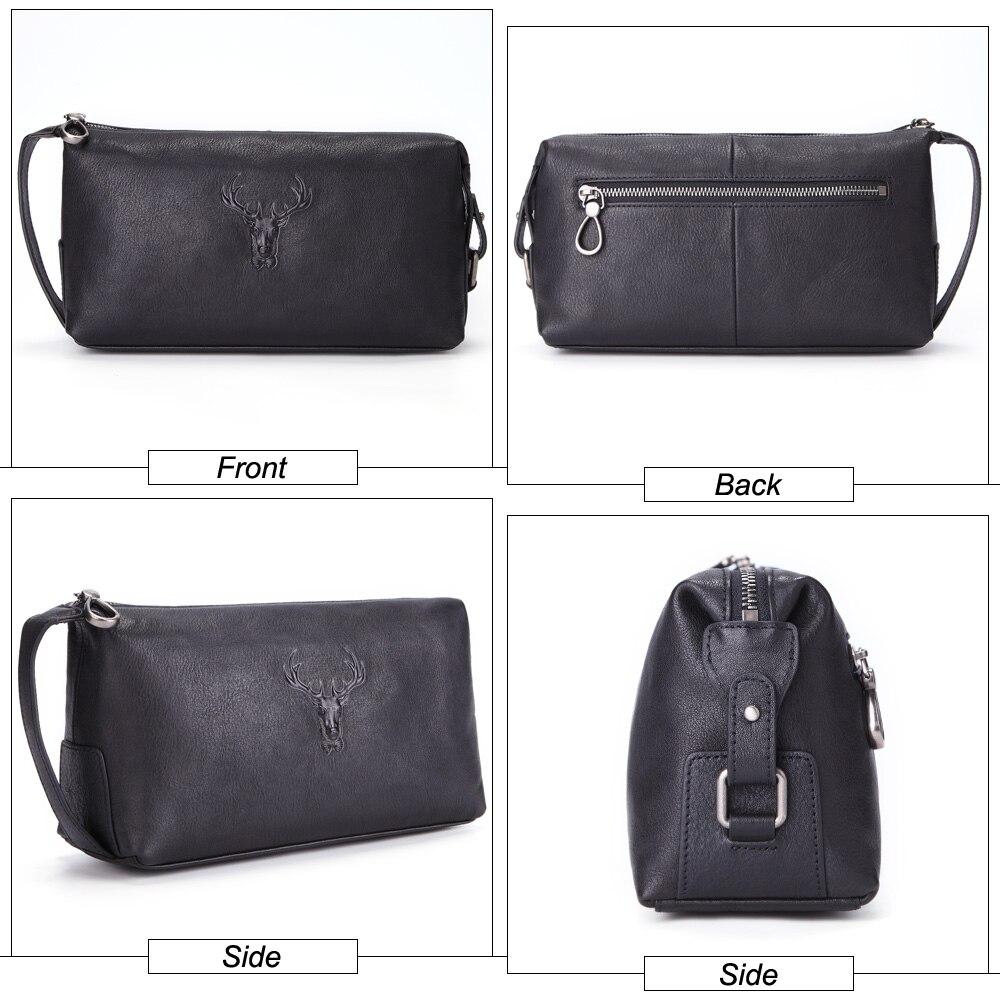 Image 3 - cosmetic case men genuine leather waterproof toiletry wash bag  high capacity handbag travel women make up bag zipper organizerCosmetic  Bags