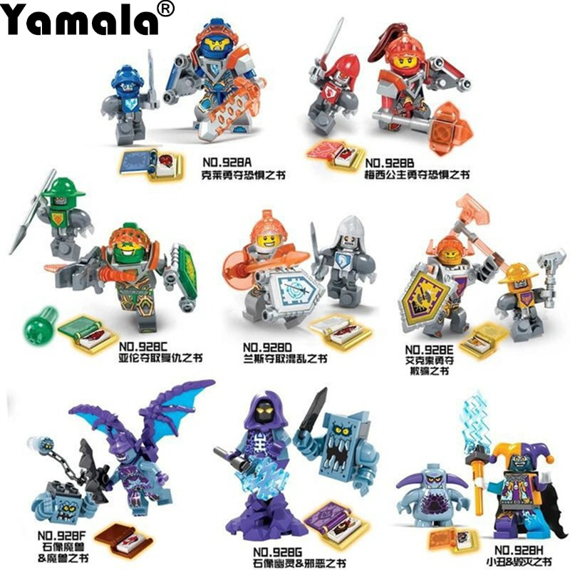 [Yamala] 8pcs/lot NEW Nexo Knights Future Shield Building Blocks Castle Warrior Nexus Kids Toys Gift Compatible With Legoingly недорого
