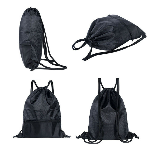 2019 Newest Hot Man Women Polyester String Drawstring Back Pack Cinch Sack Gym Tote Bag School Sport Bag 4